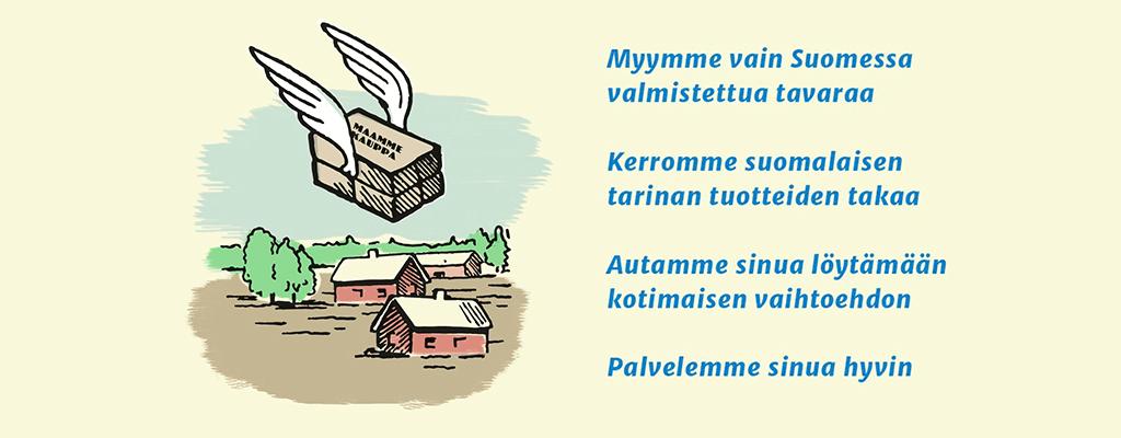 Maammekauppa - Suomessa valmistettujen tuotteiden tavaratalo